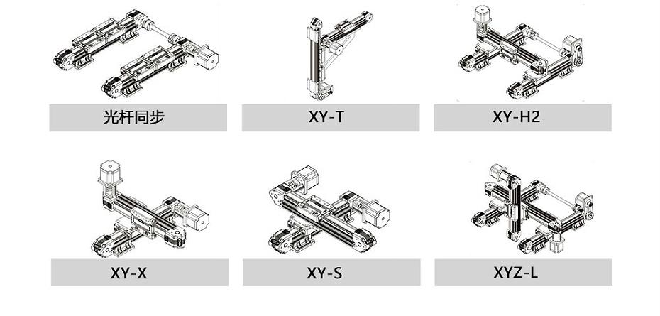 双轴芯直线模组搭建方式