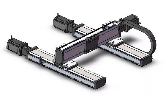 两轴工字型直线模组