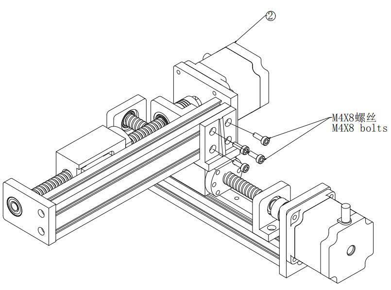 悬臂式丝杆模组
